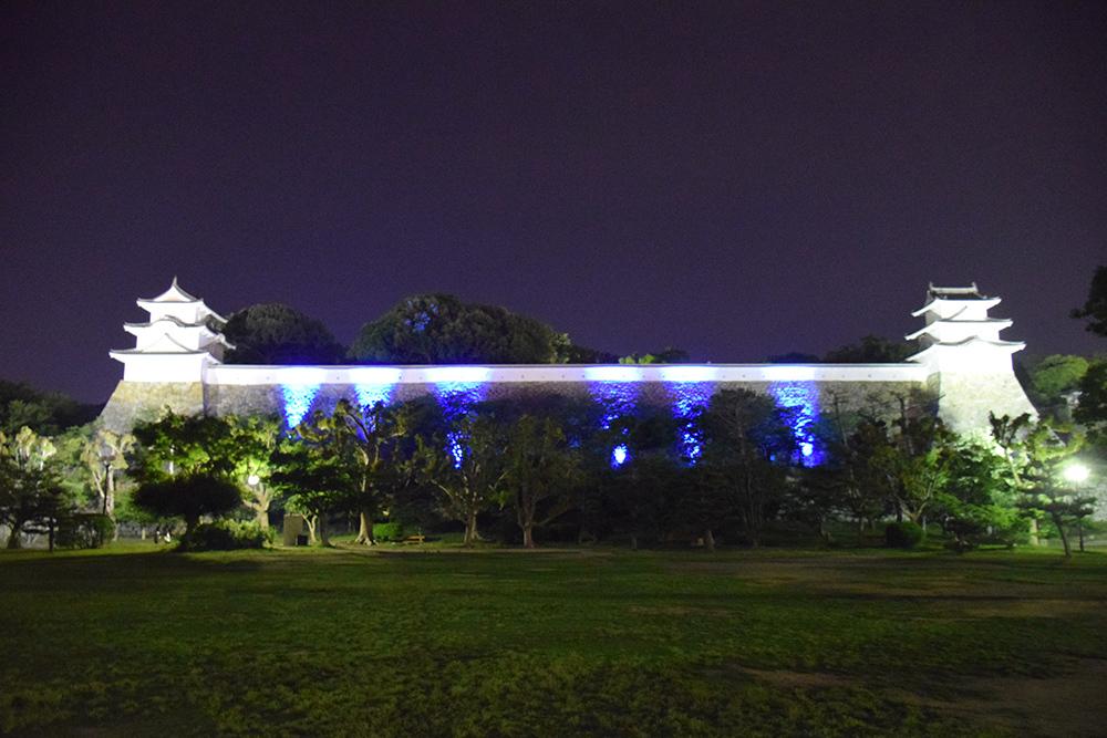 築城400周年の明石城を歩く。 その10 <ライトアップ>_e0158128_14401949.jpg