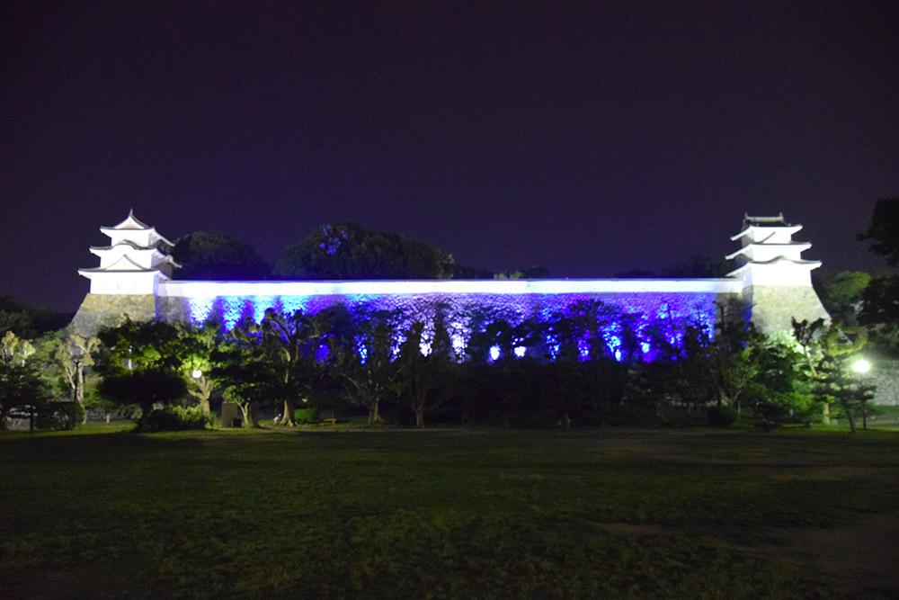 築城400周年の明石城を歩く。 その10 <ライトアップ>_e0158128_14402534.jpg