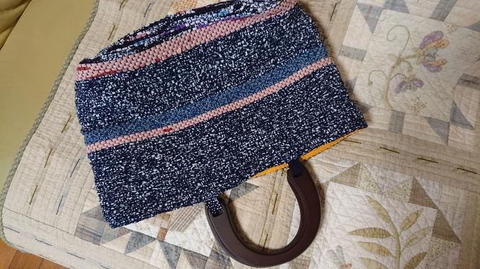 裂き織りバッグ完成&手づくりマルシェのハガキ♪_f0374160_22233506.jpg