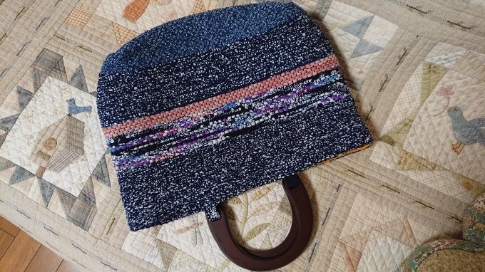裂き織りバッグ完成&手づくりマルシェのハガキ♪_f0374160_22235281.jpg