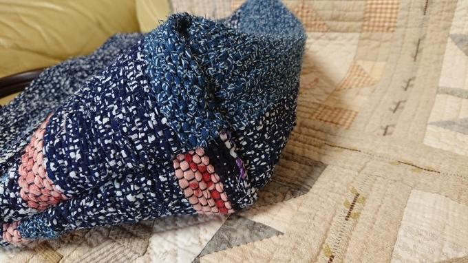 裂き織りバッグ完成&手づくりマルシェのハガキ♪_f0374160_22242169.jpg