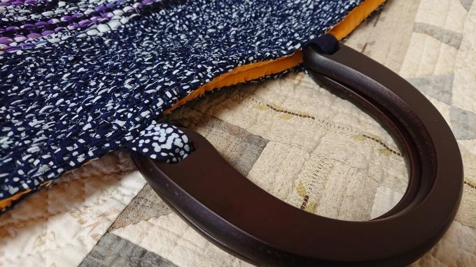 裂き織りバッグ完成&手づくりマルシェのハガキ♪_f0374160_22243967.jpg