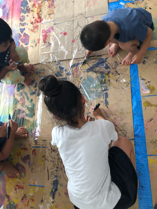 3原色で遊ぶ【子どもとアーティストの森】素材作り_d0347031_17444731.jpg