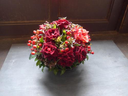 花修行~真っ赤なバラのアレンジメント~_f0232060_20464725.jpg
