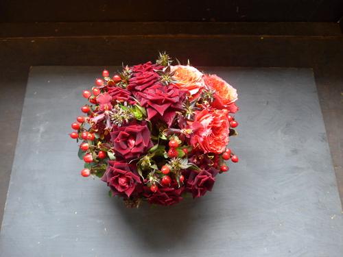 花修行~真っ赤なバラのアレンジメント~_f0232060_20465640.jpg