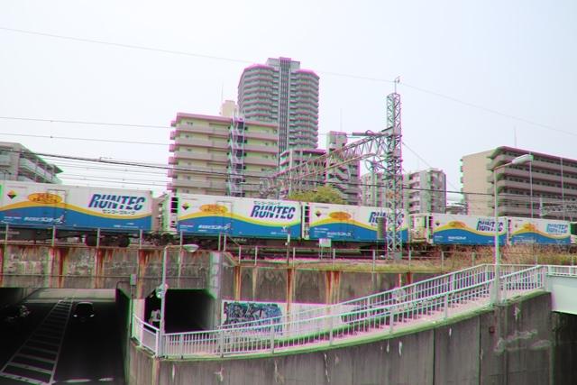 藤田八束の鉄道写真@ここは西宮、東海道本線が町中をはしります・・・瑞風、スーパーはくと、そして貨物列車「桃太郎」がはしる_d0181492_21220688.jpg