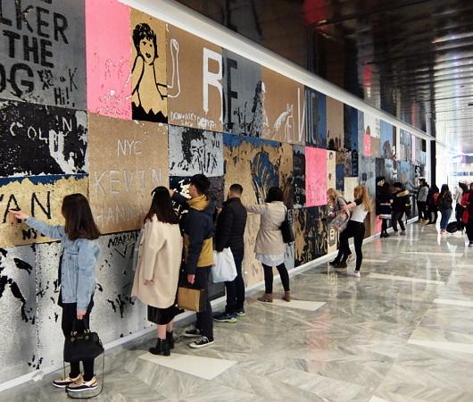 """NYのハドソン・ヤードに自分で描く体験型アート、""""I was here""""(私はここにいた)展示中_b0007805_08065173.jpg"""