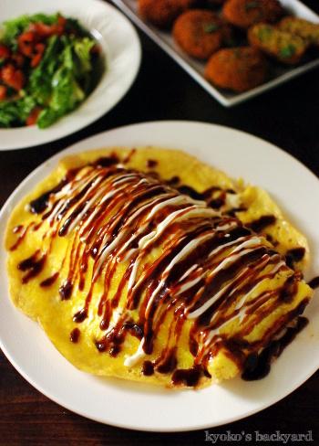 レンズ豆スープのリメイク・コロッケ。特大の豚平焼きとトマトとレタスのサラダも_b0253205_04463514.jpg