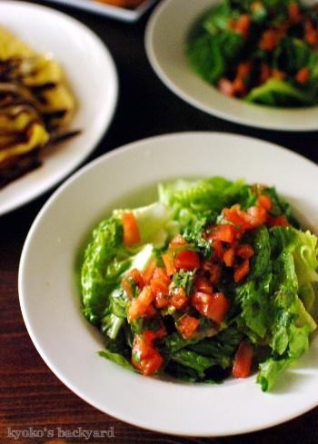 レンズ豆スープのリメイク・コロッケ。特大の豚平焼きとトマトとレタスのサラダも_b0253205_04465028.jpg