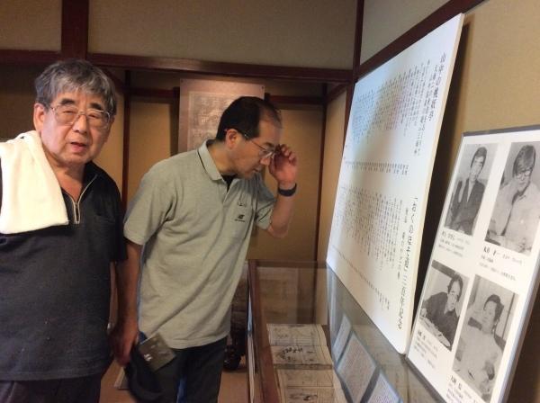 塚田誉(テレビ金沢)氏が、御父(蒔絵展)様を訪れました。_f0289632_11310054.jpg