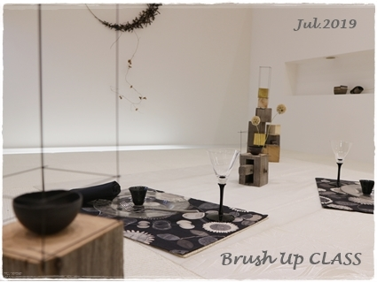 永井小百合さんの真鍮作品で夏の夜のテーブル ~ブラッシュアップクラス_d0217944_20460567.jpg