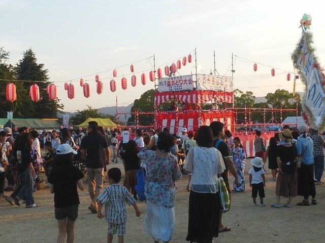 ⭐ 第51回 大和盆踊り大会 ⭐ 楽しませていただきました 🌝 いよいよカウントダウン ⌚💦_f0061067_22111457.jpg
