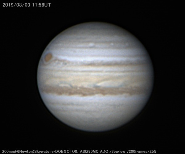 強風なので20cmで木星を撮影_a0095470_12541875.jpg