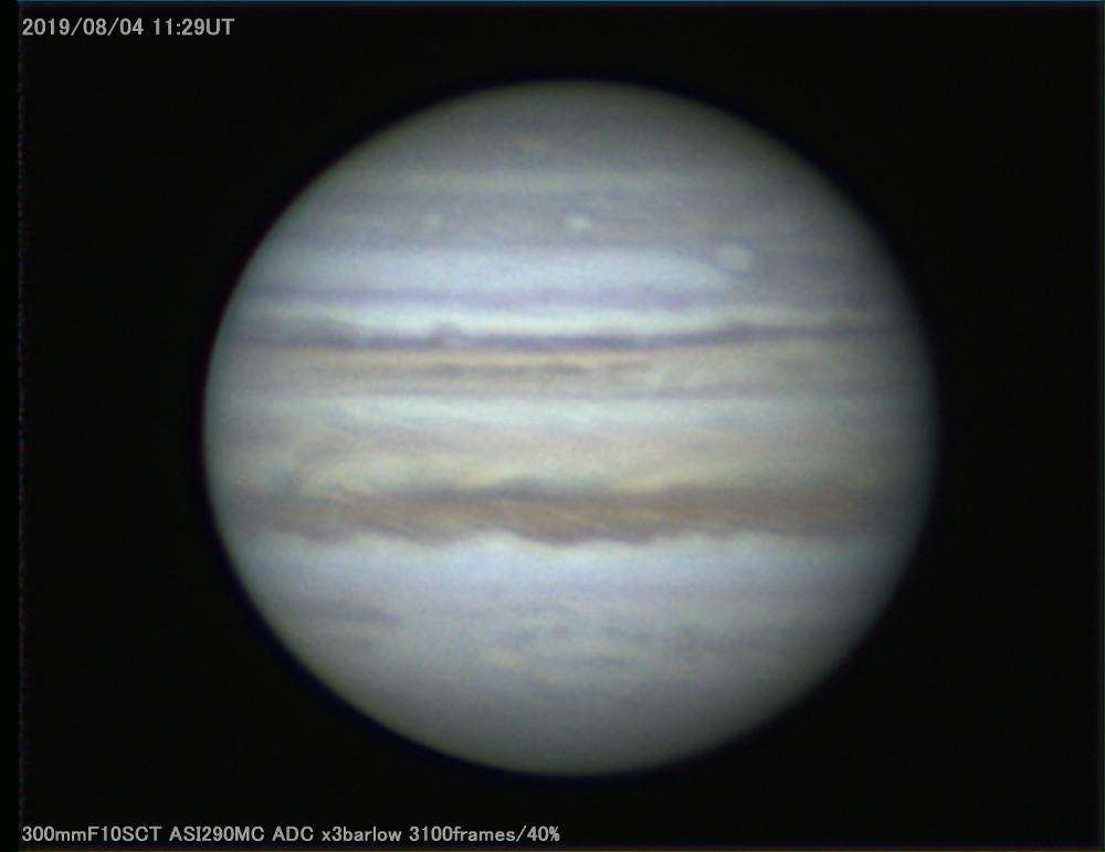 降ったり晴れたりなのでドームのシュミカセで木星撮影_a0095470_22542196.jpg