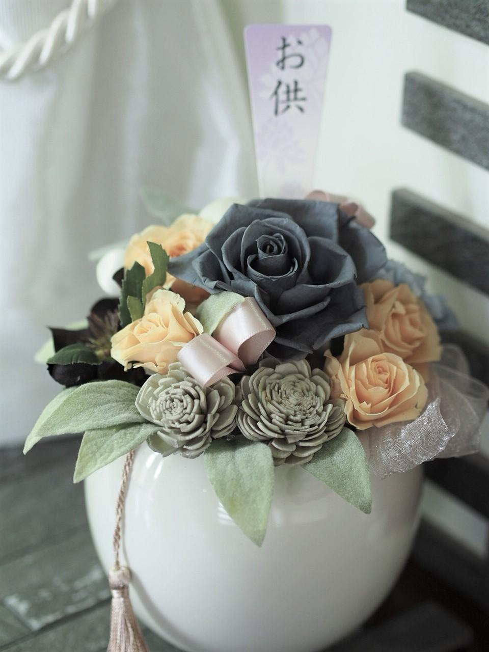 新盆仏花 亡き母上様へ_d0144095_13221203.jpg