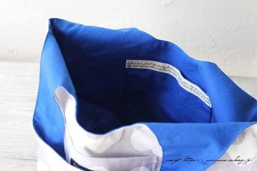 夏色ブルーがチラリ「くり手」の丸底トート♪アレンジ紹介(著書掲載10)_f0023333_22241443.jpg