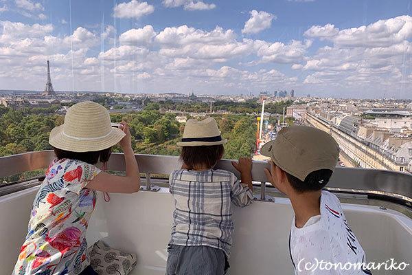 パリの「夏の遊園地」観覧車の上から_c0024345_18451336.jpg
