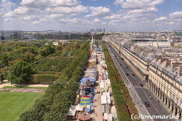 パリの「夏の遊園地」観覧車の上から_c0024345_18451444.jpg