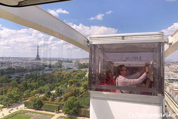 パリの「夏の遊園地」観覧車の上から_c0024345_18451469.jpg