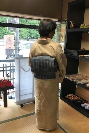 小千谷縮にお洒落な麻の帯のお客様・孫の甚平。_f0181251_13482528.jpg