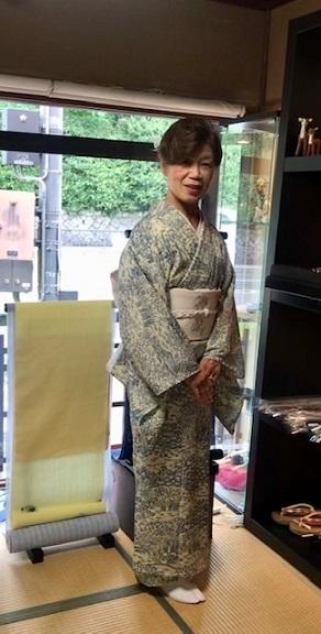 お友達とご来店・絽小紋にまいづる夏帯・V&A博物館_f0181251_15083863.jpg