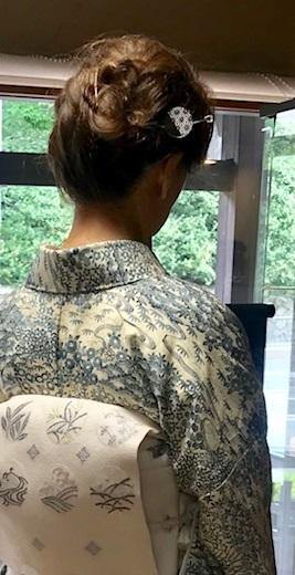 お友達とご来店・絽小紋にまいづる夏帯・V&A博物館_f0181251_15105603.jpg