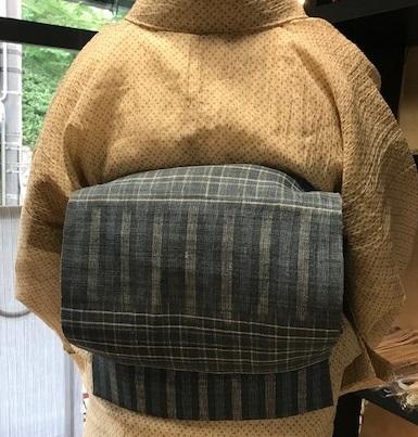小千谷縮にお洒落な麻の帯のお客様・孫の甚平。_f0181251_15434212.jpg