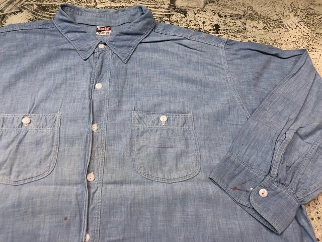Chambray Shirt at U.S.Navy&Wrok!!(マグネッツ大阪アメ村店)_c0078587_19372587.jpg