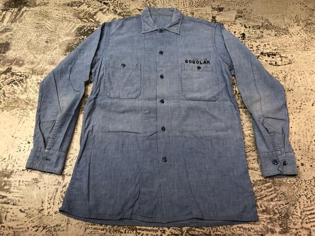 Chambray Shirt at U.S.Navy&Wrok!!(マグネッツ大阪アメ村店)_c0078587_23235785.jpg