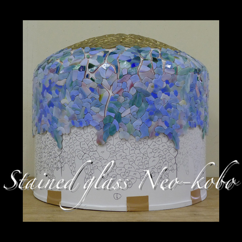 Tiffany lamp shade 18-inch Wisteria_e0140090_12510716.jpg