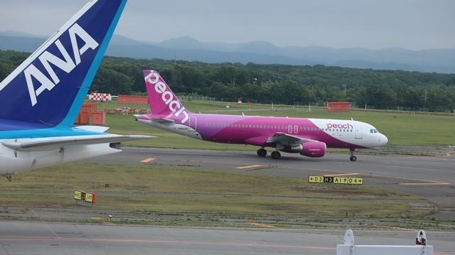 藤田八束の鉄道写真@札幌空港の飛行機達、札幌で見つけた可愛いマンホール_d0181492_22420744.jpg