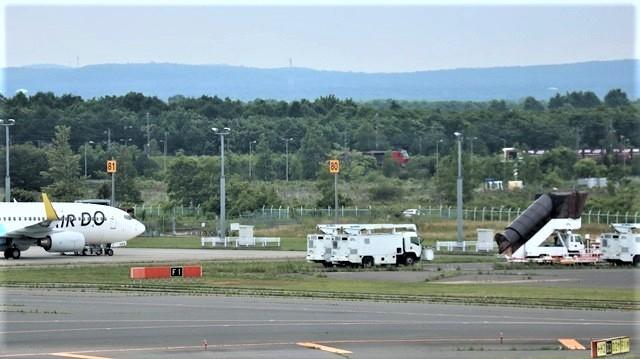 藤田八束の鉄道写真@札幌空港で離発着する飛行機、札幌空港からの貨物列車の写真、楽しい飛行機たちが勢ぞろいした札幌空港_d0181492_22435419.jpg