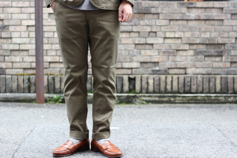 """「WORKERS」考え抜かれた \""""Officer Trousers, Type 2\"""" ご紹介_f0191324_07424258.jpg"""