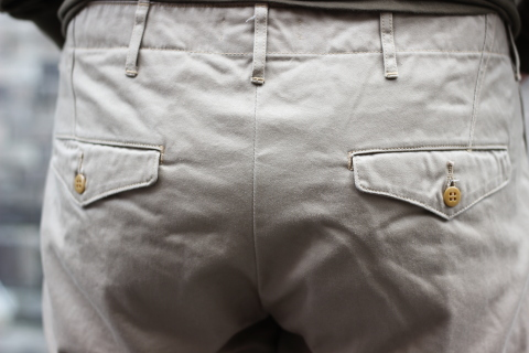 """「WORKERS」考え抜かれた \""""Officer Trousers, Type 2\"""" ご紹介_f0191324_07453848.jpg"""