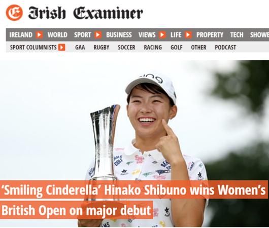 \'Smiling Cinderella\'(笑顔のシンデレラ)、全英女子オープン・ゴルフ優勝と世界中で大反響!!_b0007805_00515937.jpg