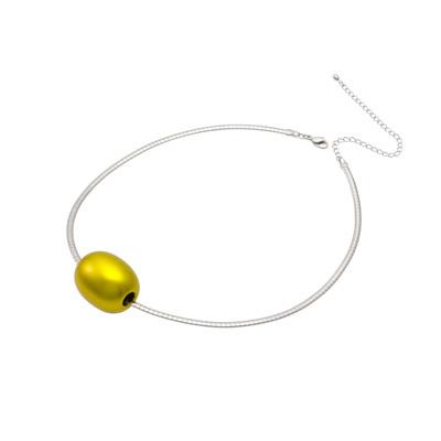 身につける漆 漆のアクセサリー ペンダント つや玉 レモンゴールド色 オメガフラットコードS 坂本これくしょんの艶やかで美しくとても軽い和木に漆塗りのアクセサリー SAKAMOTO COLLECTION wearable URUSHI accessories pendants Tsuya Jewel Lemon Gold color ベーシックなフォルムが人気、角度によって黄色に金色にキラキラと発色の良い鮮やかなビタミンカラーは幅広い年代の女性に人気、シャープかつシンプルなシルバーカラーコードは滑らかなカーブで女性的な印象も添え素敵。 #ペンダント #つや玉 #レモンゴールド #pendants #LemonPendant #GoldPendant #LemonGold #jewelry #オメガコード #れもん色 #軽いペンダント #漆のペンダン