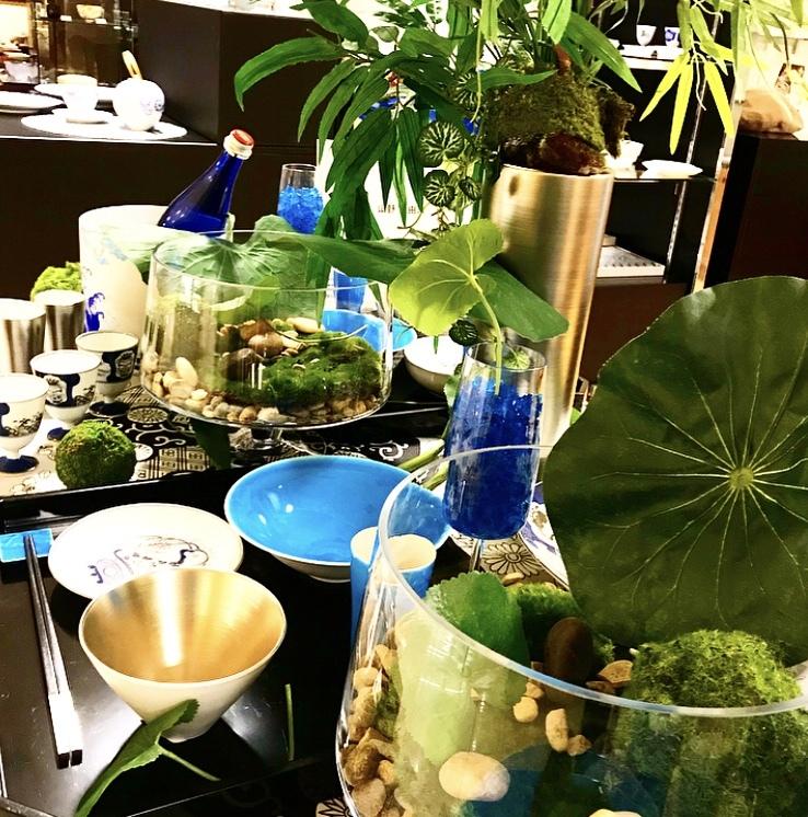 涼を呼ぶ日本庭園の食卓(岩田屋アリタポーセリンラボ)_c0366777_10443990.jpeg