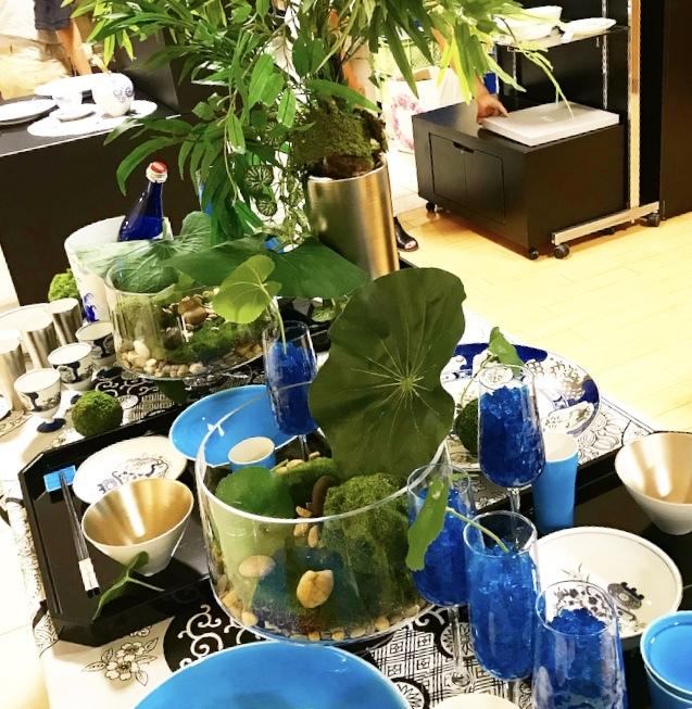 涼を呼ぶ日本庭園の食卓(岩田屋アリタポーセリンラボ)_c0366777_10445452.jpeg