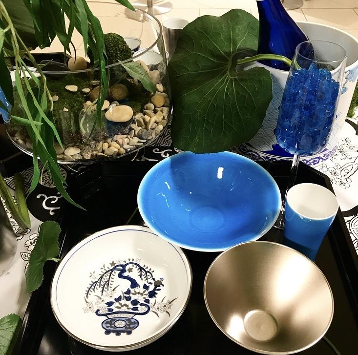 涼を呼ぶ日本庭園の食卓(岩田屋アリタポーセリンラボ)_c0366777_10451065.jpeg