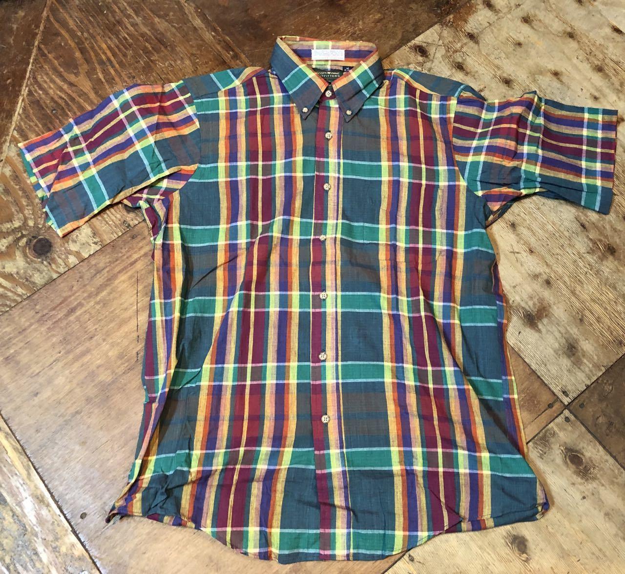 8月8日(木)入荷! 80s MADE IN U.S.A  デッドストック マドラスチェックシャツ! _c0144020_14103395.jpg