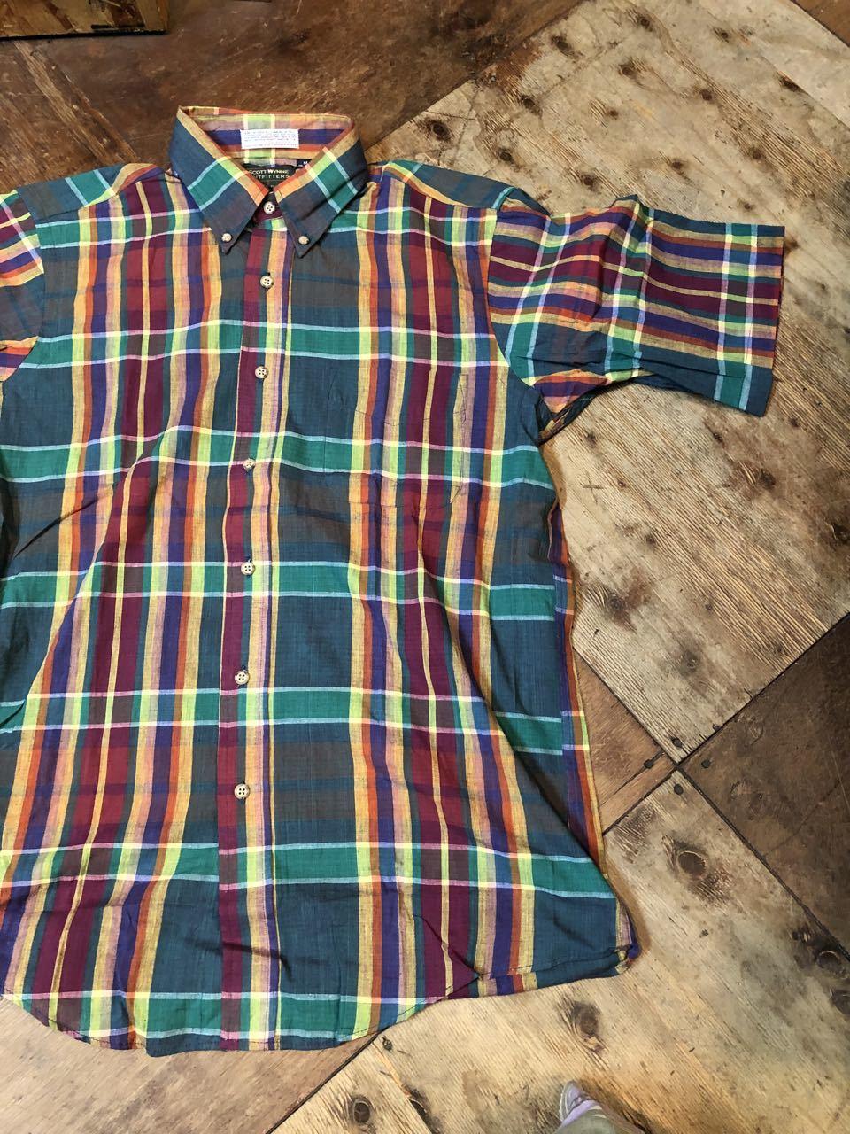 8月8日(木)入荷! 80s MADE IN U.S.A  デッドストック マドラスチェックシャツ! _c0144020_14103695.jpg