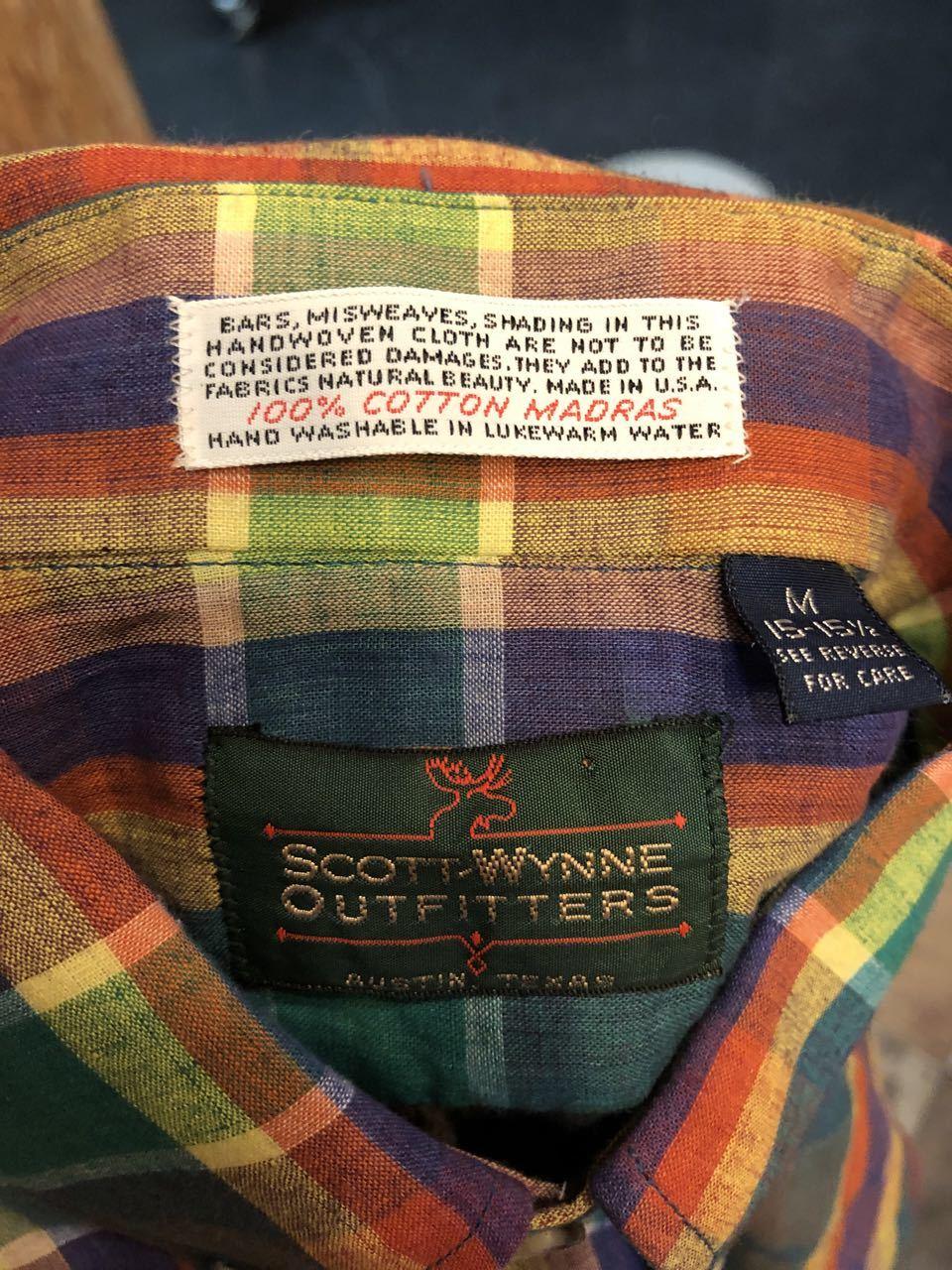 8月8日(木)入荷! 80s MADE IN U.S.A  デッドストック マドラスチェックシャツ! _c0144020_14104104.jpg