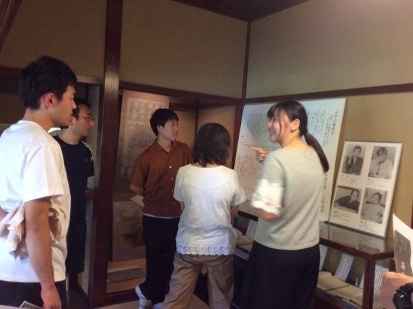 山中小学校の先生方が「芭蕉の館」を視察研修。_f0289632_20535973.jpg