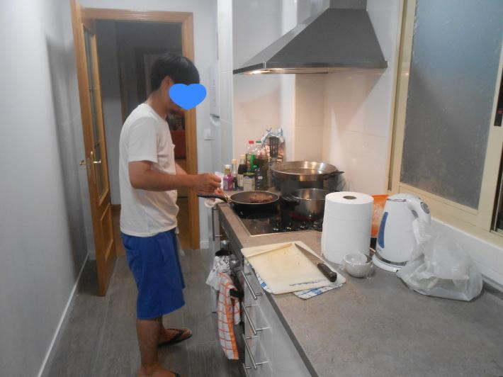 バレンシアで料理する 9)バレンシアで最後の一日。晩餐_a0095931_11364188.jpg