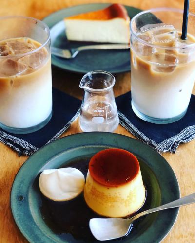 二子玉川のオクシモロンでプリンとチーズケーキ_b0048834_08542246.jpg