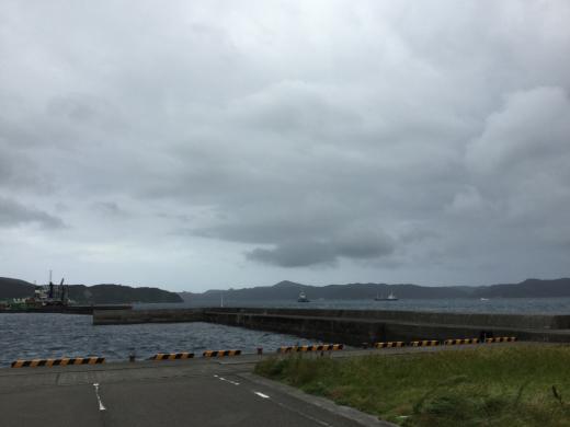 今回の台風は削れてた船名シールの補修上架って感じ_d0053180_17405308.jpg