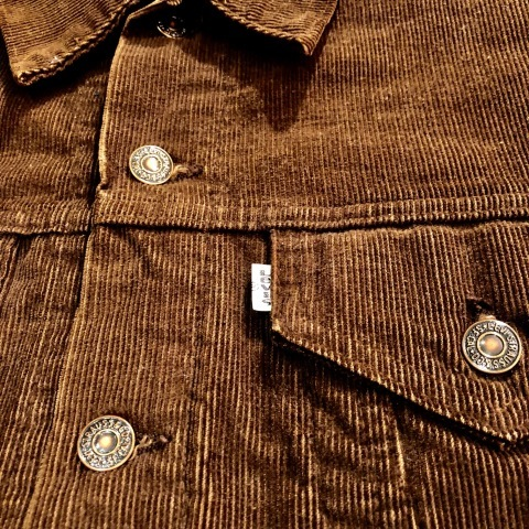 "1970s \"" Levi\'s \"" - 70505 MODEL corduroy - VINTAGE TRUCKER JACKET \"" ONE-TWO wash \"" ._d0172088_17234724.jpg"