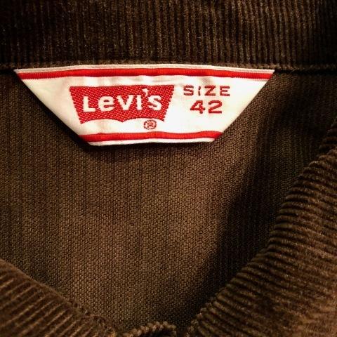 "1970s \"" Levi\'s \"" - 70505 MODEL corduroy - VINTAGE TRUCKER JACKET \"" ONE-TWO wash \"" ._d0172088_17260197.jpg"