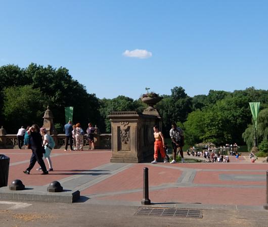 セントラルパークのベセスダ・テラス(Bethesda Terrace)から見下ろす噴水広場と湖_b0007805_05210059.jpg