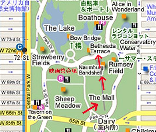 セントラルパークのベセスダ・テラス(Bethesda Terrace)から見下ろす噴水広場と湖_b0007805_05213495.jpg